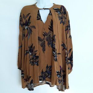 Free People Floral Tunic Style Top Small